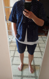 커버낫(COVERNAT) S/S COTTON BANDANA SHORTS NAVY 후기