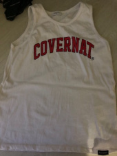 커버낫(COVERNAT) S/S ARCH LOGO SLEEVELESS TOP WHITE / RED 후기