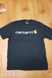 칼하트(CARHARTT) K195 SIGNATURE LOGO T-SHIRT S/S (GRANITE HEATHER) 후기