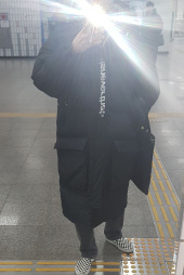 디스이즈네버댓(THISISNEVERTHAT) DSN-Logo Oversized Down Parka Black 후기