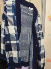 블론드나인(BLOND9) Check Knit Cardigan 후기