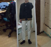 블론드나인(BLOND9) Three Lines Knit Cardigan 후기