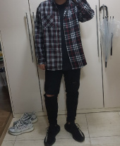 본헤드(BONEHEAD) 18FW MIXED CHECK SHIRT (BLACK) 후기