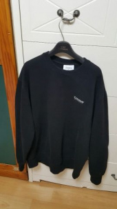 커버낫(COVERNAT) SMALL AUTHENTIC LOGO CREWNECK BLACK 후기