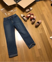 이쁘다 양장점(EBBUDA BOUTIQ) baggy turn-up denim 후기