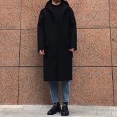 인사일런스(INSILENCE) [IN SILENCE X GEAR3] OVERSIZED HOODED COAT (black) 후기