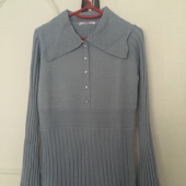 몬츠(MONTS) 856 sailor collar knit ops (light blue) 후기