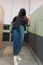 로라로라(ROLAROLA) (PT-19142) PANELLED DENIM PANTS BLUE 후기