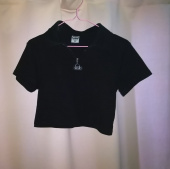네스티팬시클럽(NASTY FANCY CLUB) NSTF ZIP UP COLLAR CROP TEE BLK (NK19S033H) 후기