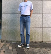 디스이즈네버댓(THISISNEVERTHAT) T-Logo Tee Light Blue 후기
