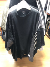 아조바이아조 오리지널 라벨(AJOBYAJO ORIGINAL LABEL) Oversized Mixed T-Shirt [Black] 후기