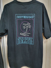 커버낫(COVERNAT) S/S LINE PALM TREE TEE BLACK 후기