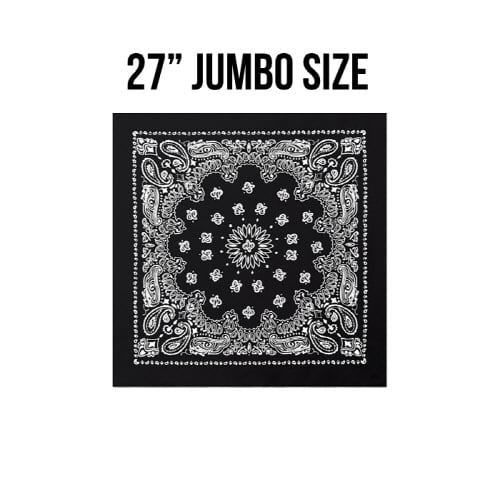 로스코(ROTHCO) [국내배송] 27INCH BIG TRAINMEN BANDANA (BLACK)
