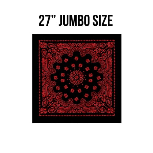 로스코(ROTHCO) [국내배송] 27INCH BIG TRAINMEN BANDANA (BLACK+RED)