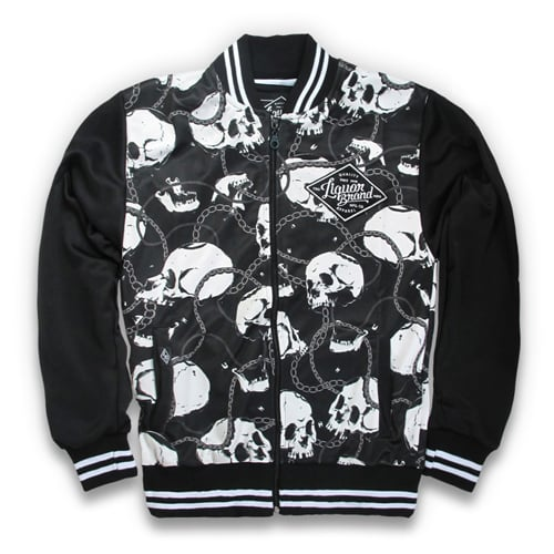 리쿼브랜드(LIQUOR BRAND) SKULLS AND CHAINS JACKET
