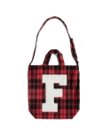 펀프롬펀(FUNFROMFUN) lettering check shoulder bag (red)