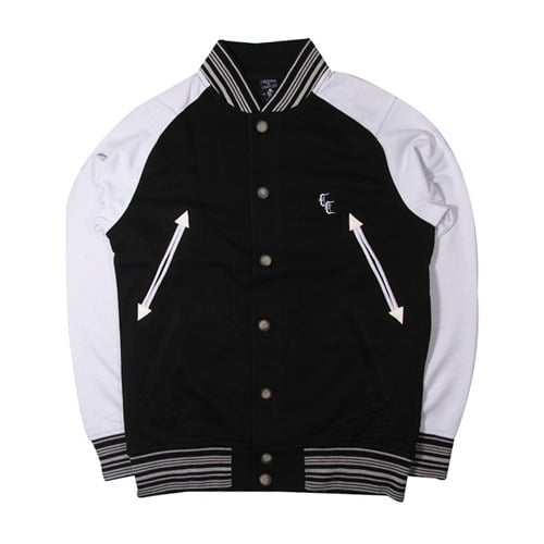 크룩스앤캐슬(CROOKS & CASTLES) Crooks & Castles COLLEAGUE FLEECE VARSITY JACKET