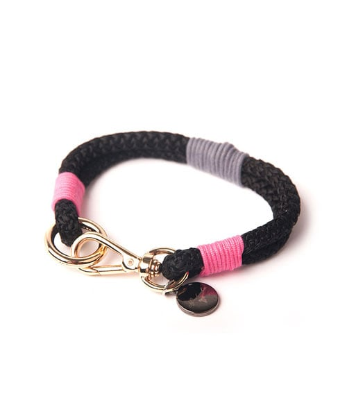 몽슈슈(MONCHOUCHOU) Rope Dog Collar-Pink