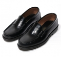모옌(MOYEN) PRESTON PENNY LOAFER (HAND-MADE CRAFTED) - BLACK