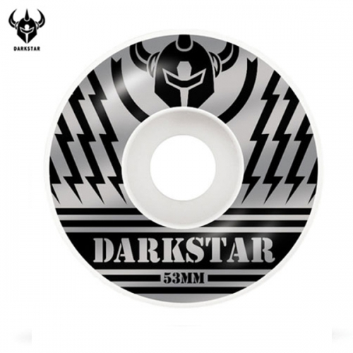 다크스타(DARKSTAR) [DARKSTAR] BLUNT SILVER/BLACK PRICE KNIGHT WHEELS 53