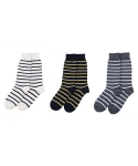 타타삭스() [3개 SET] AUTUMN LEAVES block stripe socks 3P
