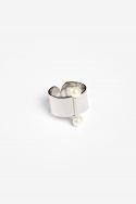 모드곤() [모드곤] Twin Moon Ring (white Gold)