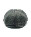 클로모르(CLOMOR) CLOMOR HARRIS TWEED NEWS BOY CAP HERRINGBONE