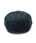 클로모르(CLOMOR) CLOMOR HARRIS TWEED NEWS BOY CAP BLACK WATCH