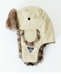 에잇볼륨(EIGHTVOLUME) EV A Leather Warm Fur Ear Cover Cap2 (Ivory)