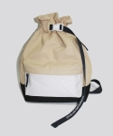 시그냅(SIGNAP) FLOW COATED CANVAS BUCKET BAG DESERT SAND