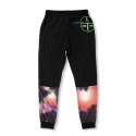 크룩스앤캐슬() Knit Sweatpant - Sensory (Black Multi)