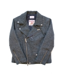 클로모르(CLOMOR) HARRIS TWEED RIDER JACKET HERRINGBONE