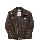 클로모르(CLOMOR) HARRIS TWEED RIDER JACKET CHECKBROWN