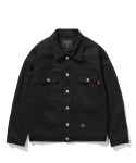 더스토리(THESTORI) COTTON TRUCKER JACKET (BLACK)