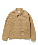 COTTON TRUCKER JACKET (BROWN)