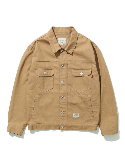 더스토리(THESTORI) COTTON TRUCKER JACKET (BROWN)