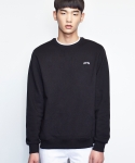 셔터() NECK STRIPE SWEAT SHIRTS (BLACK)