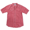 [eS] DUBAI-JUSTIN ELDRIDGE SIGNATURE BUTTON-UP S/S SHIRTS (Red)