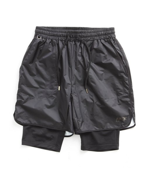 어반스터프(URBANSTOFF) USF COMFORTABLE HIPORA LAYERED SHORTS BLK