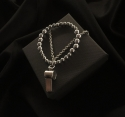 띵커(THINCKER) (호신용)Thincker double chain whistle bracelet (silver color)