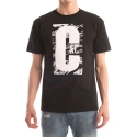크룩스앤캐슬() CROOKS & CASTLES  Knit Crew T-Shirt - Illusive (Black)