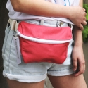 피스메이커(PIECE MAKER) ALICE CANVAS WAIST BAG (PINK)