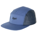 아잇(AIIIGHT) [Aiiight] Leather Mix Logo Camp Cap Navy