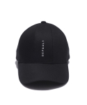 디폴트벨류(DEFAULT VALUE) DEFAULT EMBROIDERY 7PANEL CAP(Black)