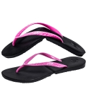살바토스() Salvatos Foldable Flip Flop Black / Neon Pink