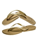 살바토스(SALVATOS) Salvatos Foldable Flip Flop Gold
