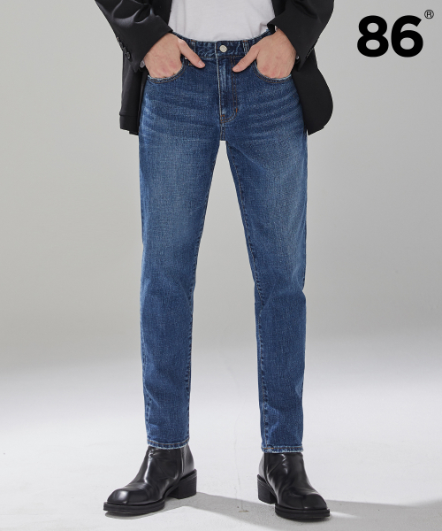 86로드(86ROAD) 1606 basic washing jeans(D/Blue) / 슬림핏