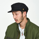 밀리어네어햇(MILLIONAIRE HATS) US DECK COTTON MATROOS CAP [BLACK]