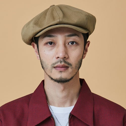 밀리어네어햇(MILLIONAIRE HATS) Rugged fabric newsboy cap [BEIGE]