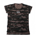 플라스틱(FLASTTIC) Camo loose t-shirt/brown